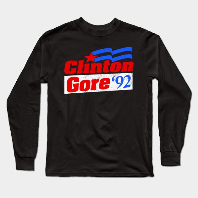Youth Mens Short Tank Long Sleeve Womens Bill Clinton 1992 T-Shirt