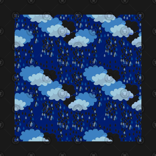 Sky Pattern With Clouds And Rain