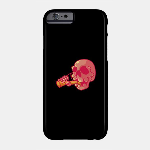 Drinking Skull Gift For Halloween Costume Phone Case