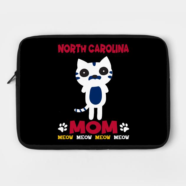 North Carolina State Cat Lover's Mom T-Shirt