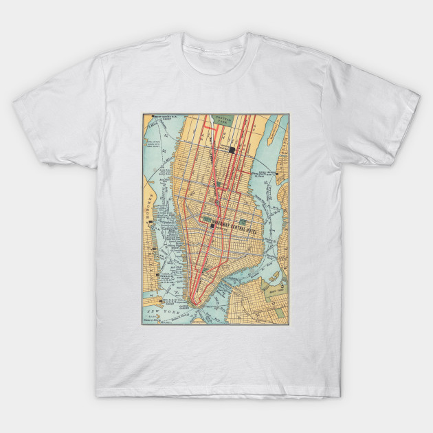 Map 1900.Vintage Map Of New York City 1900