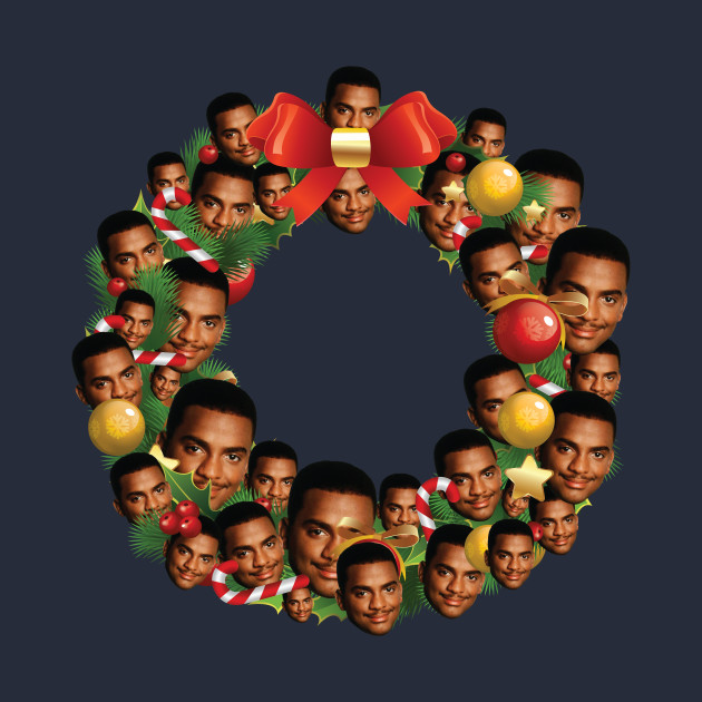 Carlton Banks Fresh Prince Multiface Christmas Wreath