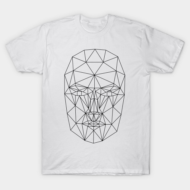 Wireframe Low Poly Female Face - Low Poly - T-Shirt | TeePublic