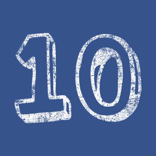 10 Fun Font - Distressed t-shirts