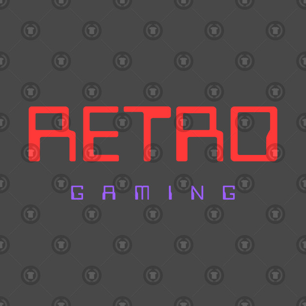 retro gaming colorful red and purple for the hardcore players video games  gamer