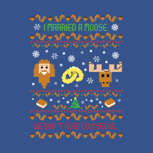 I Married A Moose Christmas Sweater t-shirts