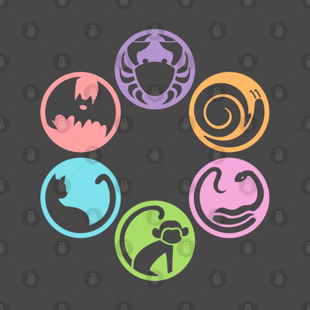 Bakemonogatari girls (Monogatari Series) icons (Shinobu Bat ver.)