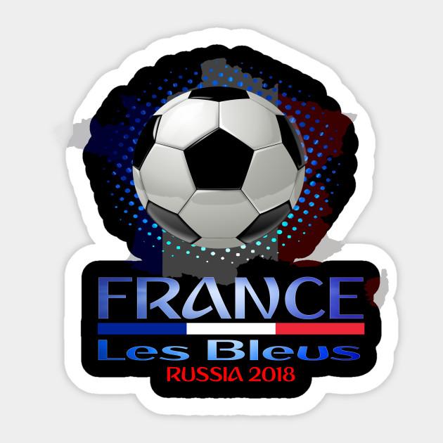 444cf5fe7 France World National Football Cup Russia 2018 France Soccer Team Allez Les  Bleus Sticker