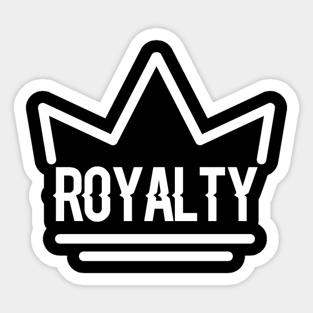 Royalty White Crown Logo Royalty White Crown Logo Sticker