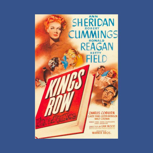 Kings row Ronald Reagan vintage movie poster print