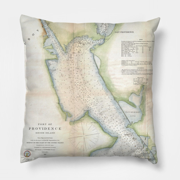 Vintage Port of Providence Rhode Island Map (1865) - Providence Ri ...