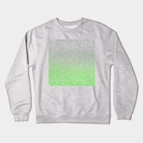 0f6689d9dabb Trendy Ombre Mint Green Silver Glitter Crewneck Sweatshirt