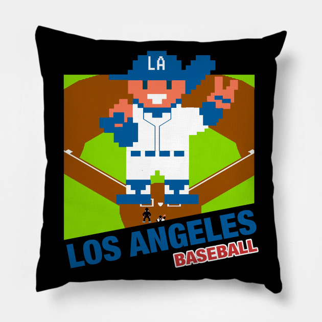 Los Angeles Baseball 8 Bit Pixel Art Cartridge Design