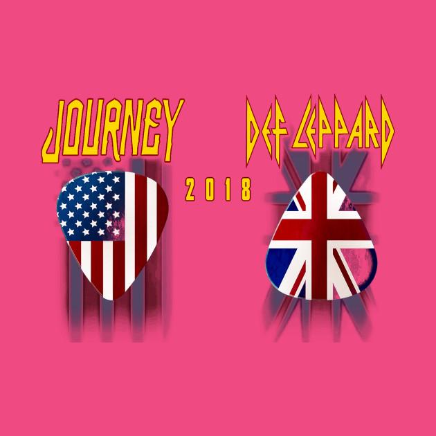 Journey w def leppard tour 2018 j1 derut band merchandise t shirt teepublic