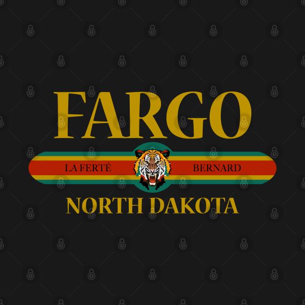 Fargo North Dakota - Fashion Tiger Face - City of Fargo North Dakota State