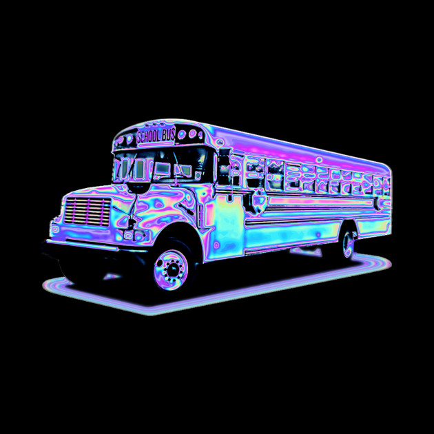 vaporwave bus