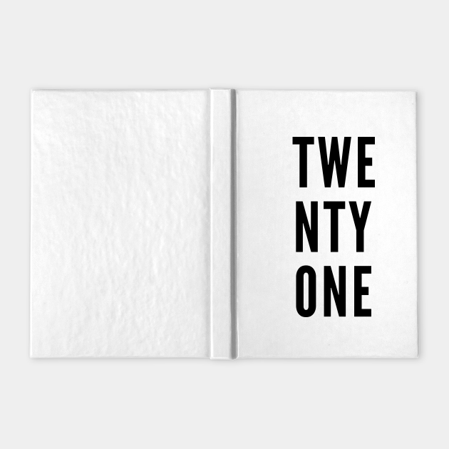 TWENTYONE Minimalist Black Typography