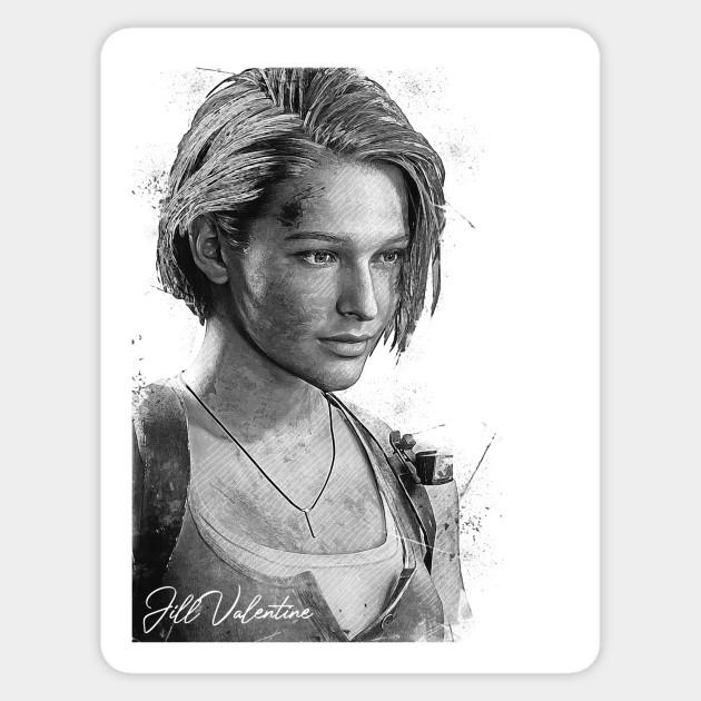 Jill Valentine Resident Evil 3 Remake Jill Valentine Sticker Teepublic Au