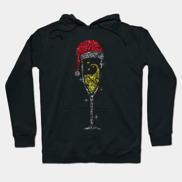 Champagne Glass Christmas champagne glass of sparkling wine glass Hoodie