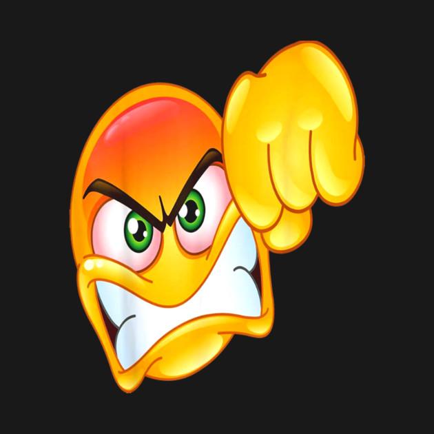 Angry Emoji Emoticon Showing A Punch Fist Gesture T Shirt Angry Emoji Emoticon Showing A Punch Fi Onesie Teepublic
