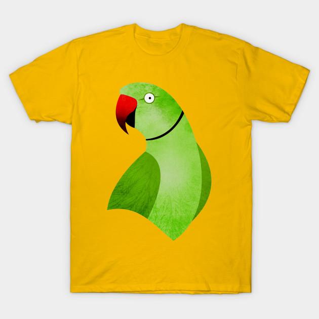 Indian Ringneck - Green - Parrot - T-Shirt  5aab64a04