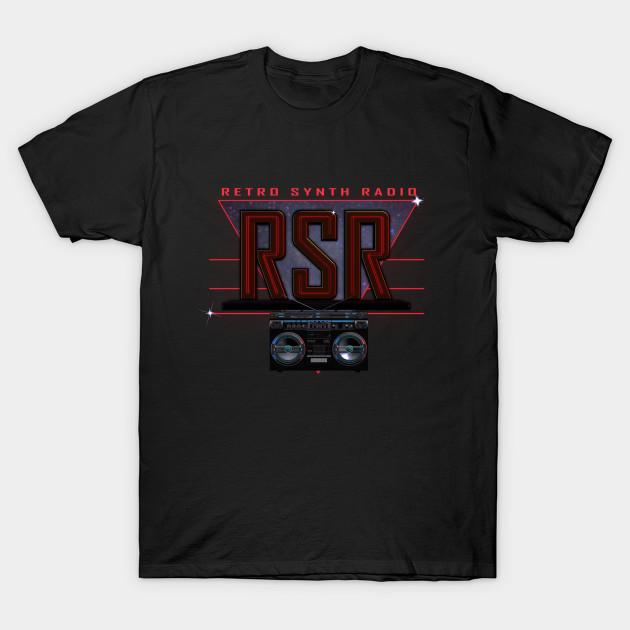 Retro Synth Radio Logo design - Retro Retrowave Retrosynth - T-Shirt ...