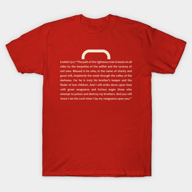 f4a3762e Ezekiel 25:17 Pulp Fiction - Pulp Fiction - T-Shirt   TeePublic