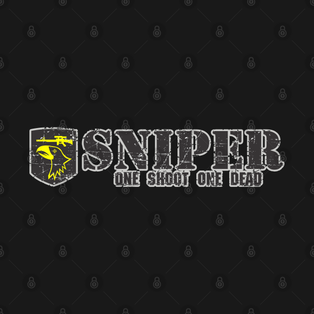 Sniper - One Shoot One Dead - Grunge Style