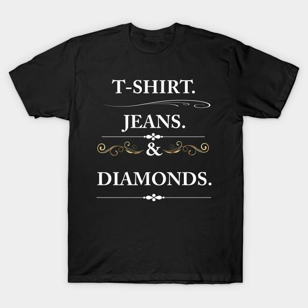 23dab296 Women's T-shirt Jeans and Diamonds Vintage Graphic T-shirt - Vintage ...