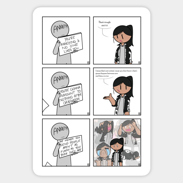 The Real Anxiety Comics Sticker Teepublic