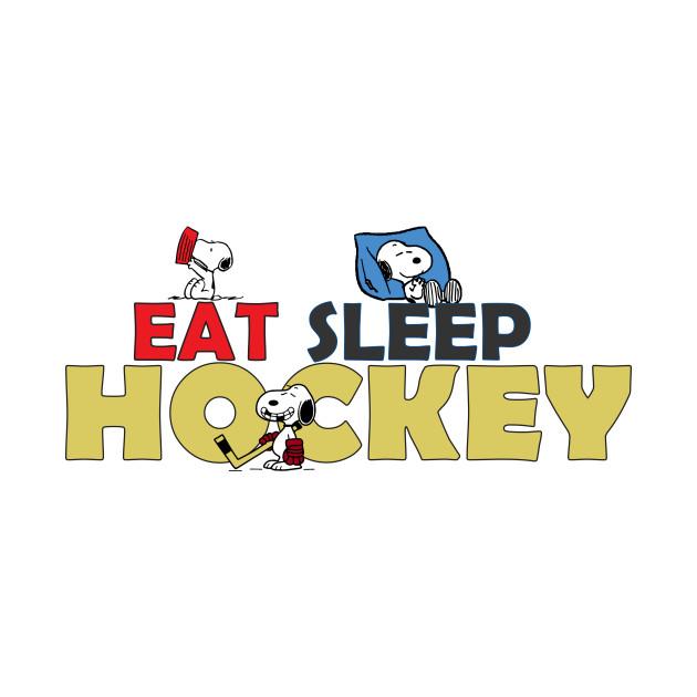 Snoopy Eat Sleep Hockey