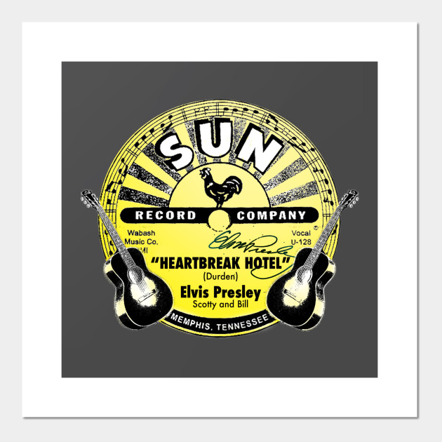 Sun Records - Elvis Heartbreak - Elvis Presley - Wall Art | TeePublic