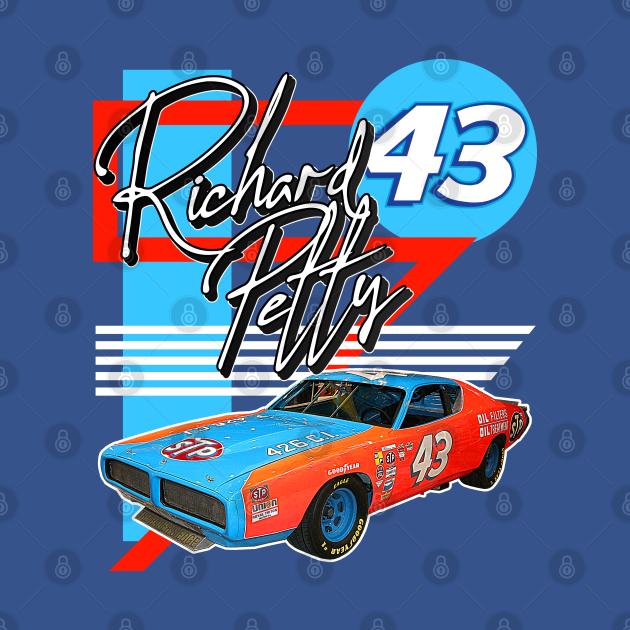 Richard Petty Retro NASCAR Racing Fan Art