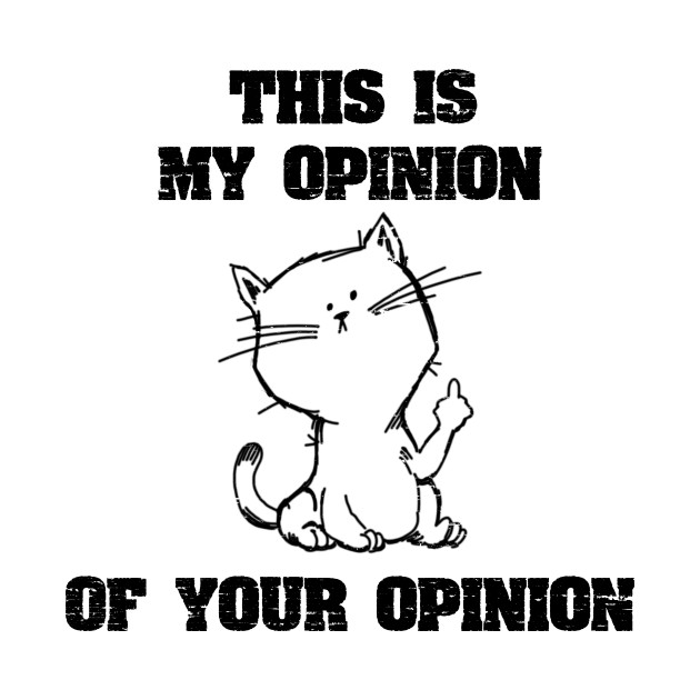 This Is My Opinion Of Your Opinion - Middle Finger
