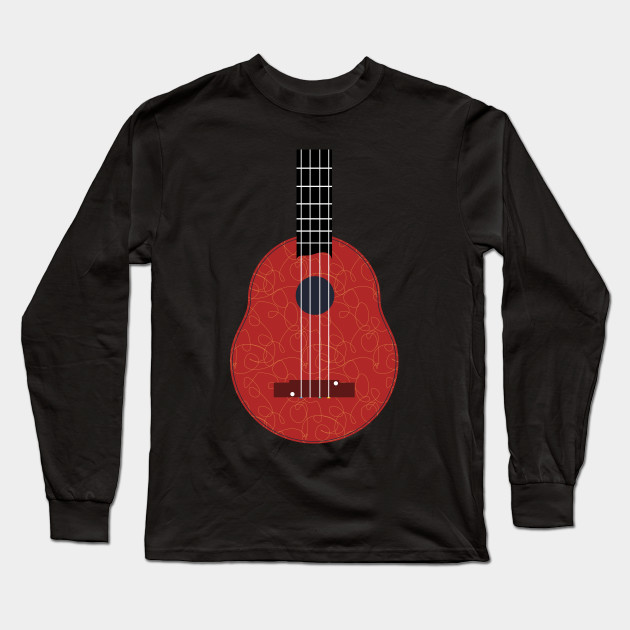 Ukulele. guitar. illustration guitar. new ukulele. unique ukulel. cute ukulel. minimalis ukulele. ukulele illustration. simple ukulele. white ukulele. red ukulele.. ukulele playing. hawaiian ukulele 1879. Long Sleeve T-Shirt