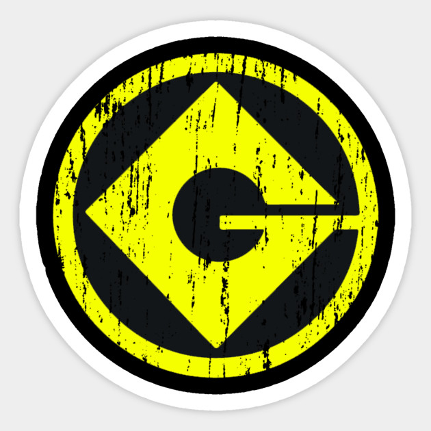Gru Monogram Distress Despicable Me Sticker Teepublic