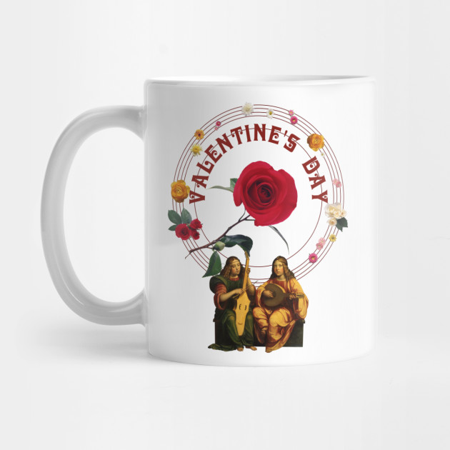 Vintage Musical and Floral Design for Valentine's Day Mug