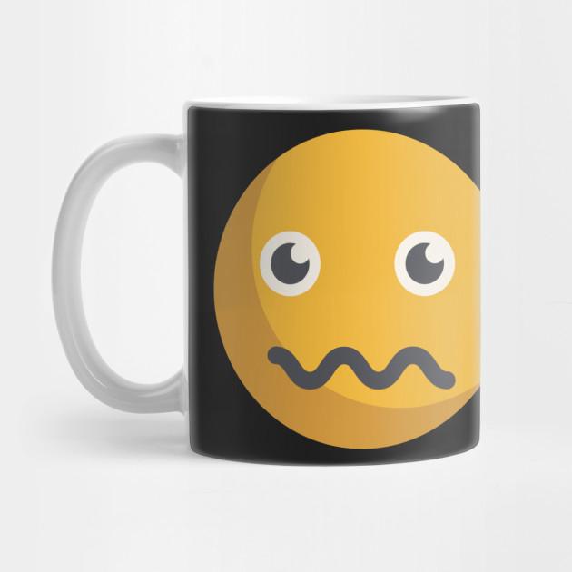 scared emoji emoji mug teepublic