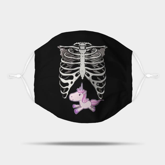 Halloween Pregnancy Unicorn Skeleton Dad Mom Costume