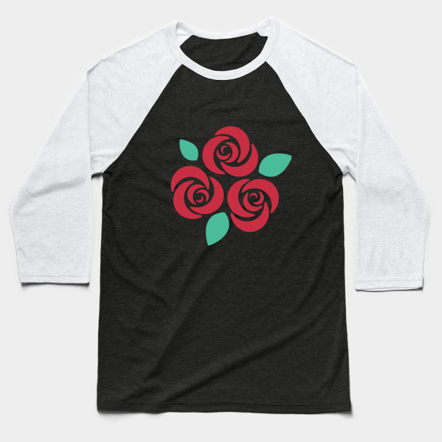 Red XNovaOnyx| Rose Simple Design Baseball T-Shirt