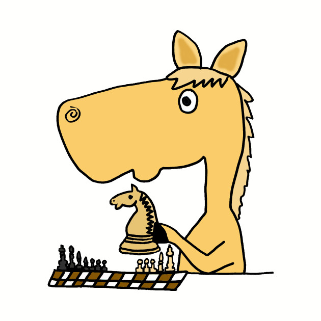 Funny Horse Playing Chess