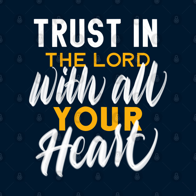Trust in God - Gold and White