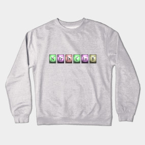 nerds club in chemical elements... Crewneck