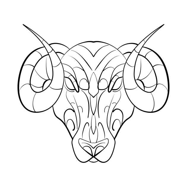 Ink Art Aries