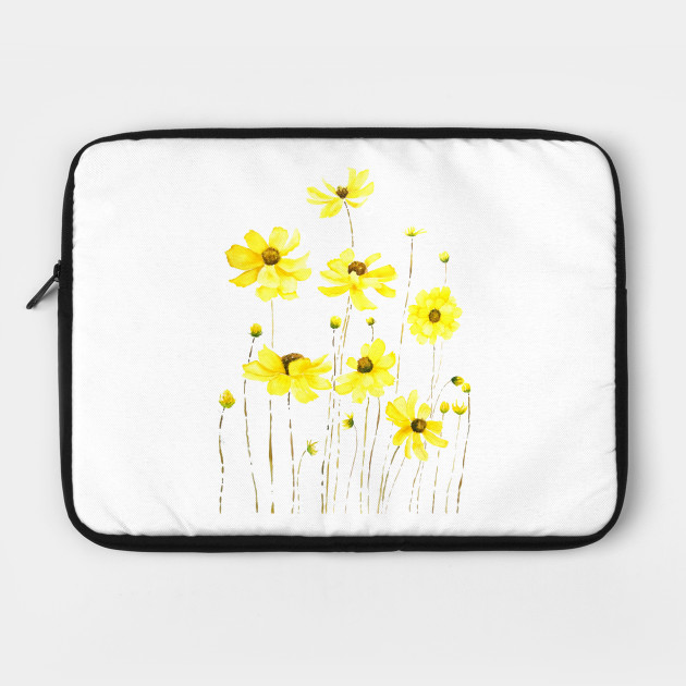 on sale 72941 2c732 yellow cosmos flower watercolor by colorandcolor