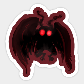 Mothman Stickers   TeePublic