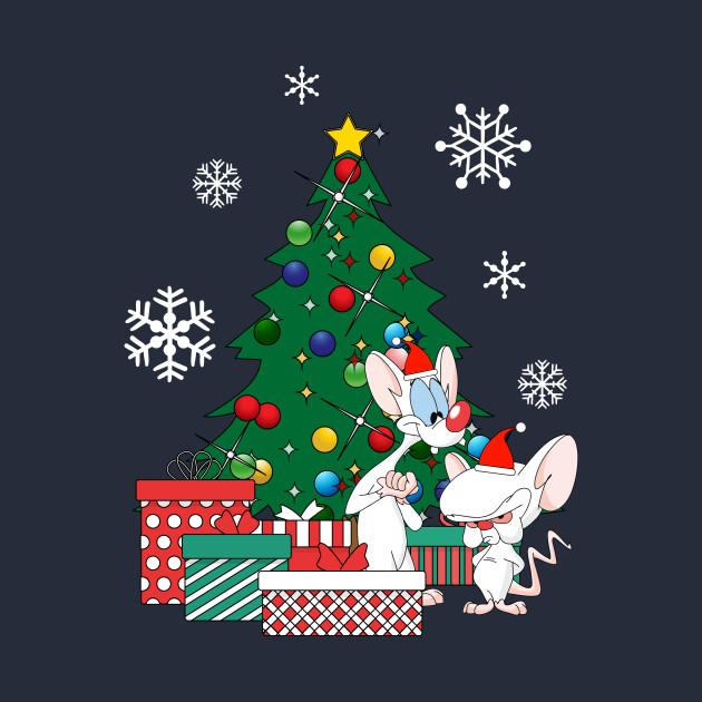 Pinky And The Brain Christmas.Pinky And The Brain Around The Christmas Tree