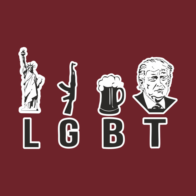 cd1e8fc2a4 Liberty Guns Beer Trump Shirt LGBT Funny Political - Liberty Guns ...