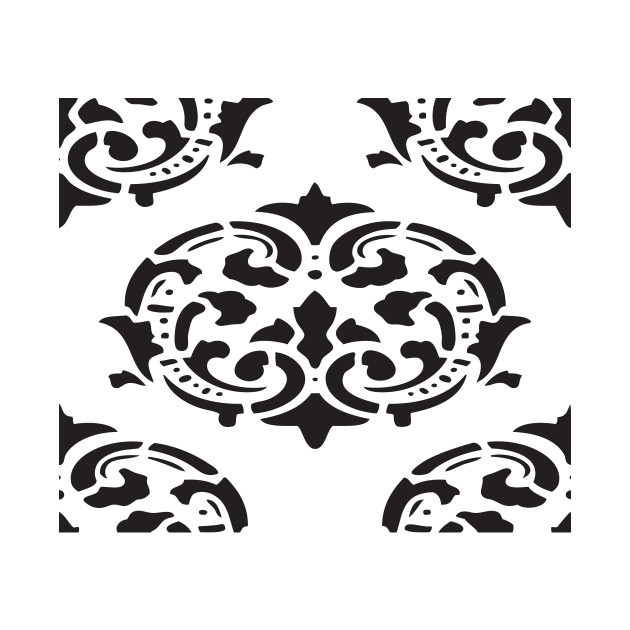 Black And White Victorian Design Abstract Art