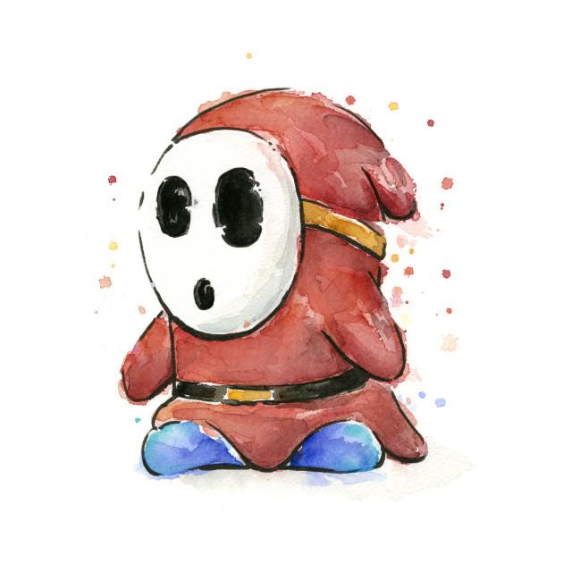 Shy Guy Watercolor